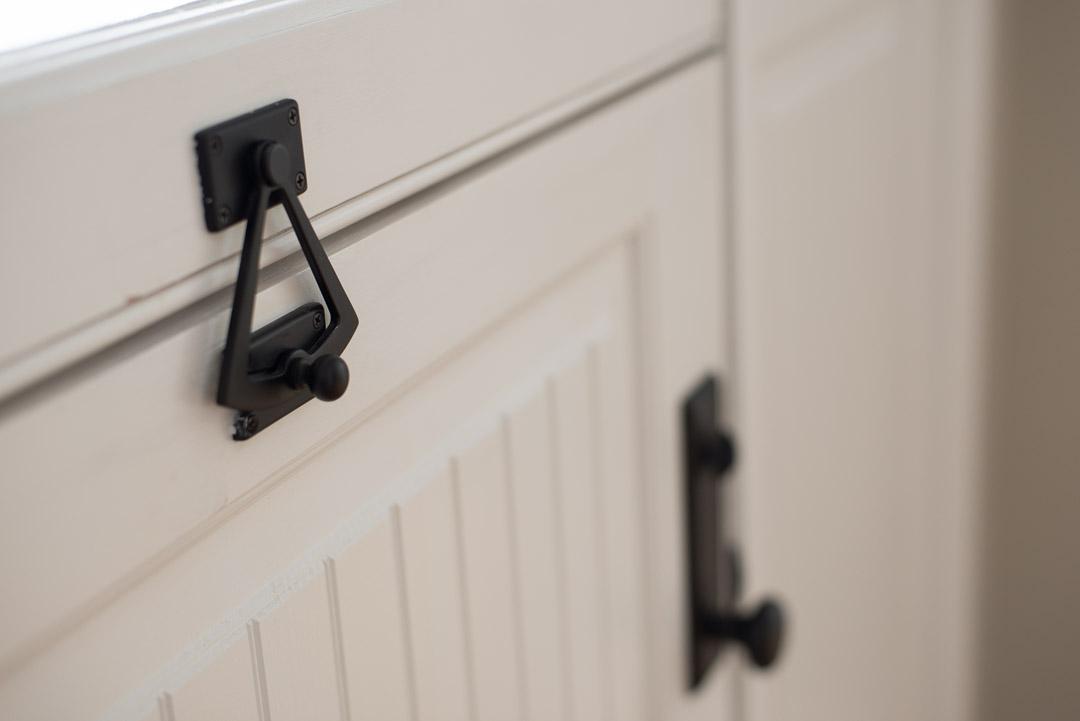 Winslow Interiors - dutch door detail with black hardware