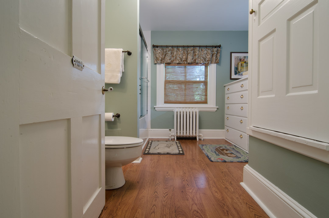 Bryn Mawr bathroom renovation wide angle view