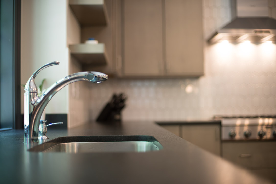 Winslow Interiors Interior Design - kitchen sink and faucet detail
