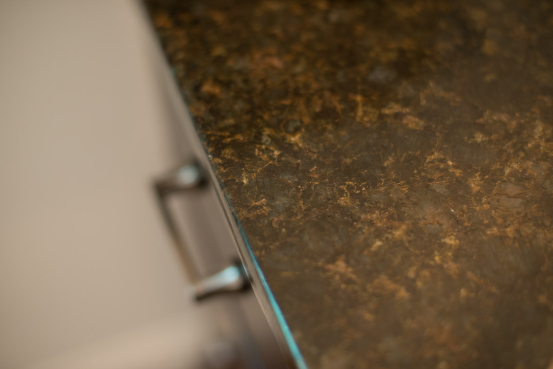 Newtown Square custom home services - solid granite countertop detail