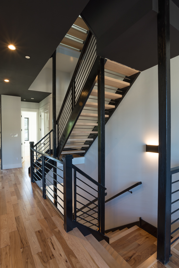 Hardwood floors and staircase